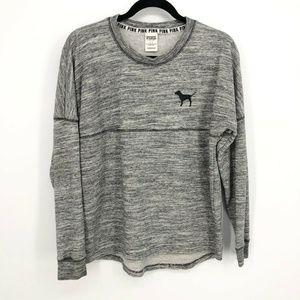 PINK Victorias Secret Marled Grey Dog Sweatshirt